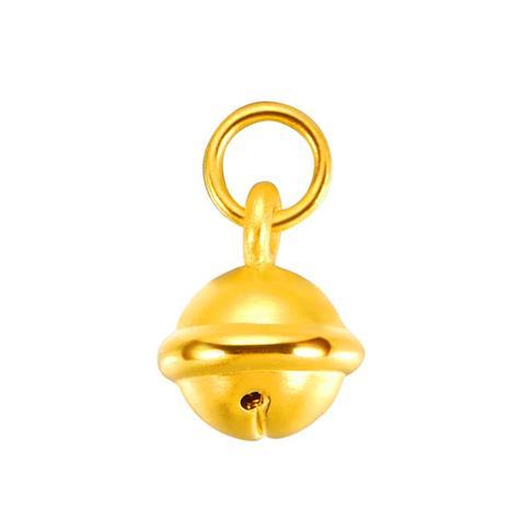 黄金铃铛吊坠硬金串珠