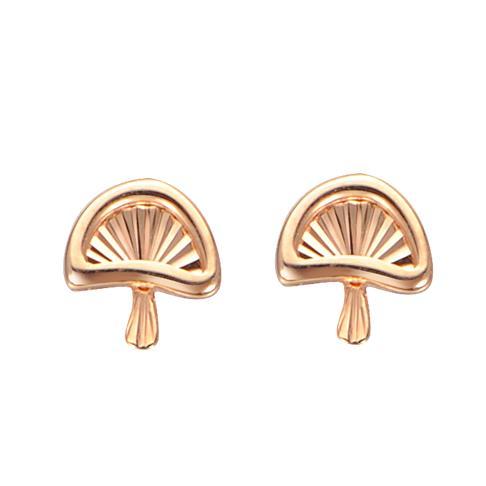 小蘑菇彩金耳钉